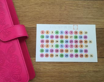 Date Dot Stickers