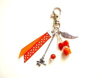 Bag charm - love Lexfimo orange Apple
