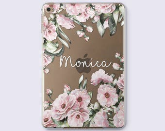 Monogram Flowers iPad Air 2 Case iPad 3 Case Custom iPad Mini 2 Case iPad Mini 4 Case iPad Case iPad Air Case iPad Smart Cover Case CC4016