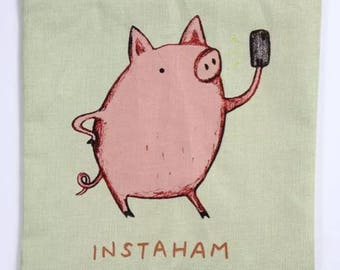 Instaham pig | Pillow Cover | Cushion Cover | 18 x 18