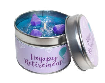 Happy Retirement Candle Tin