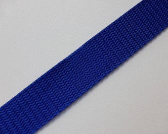 "Cobalt Blue Polypropylene Webbing 25mm (1"") wide x 1 meter"