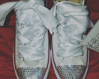 Swarovski converse, bling converse, bridal converse, wedding conversscustom converse, blinged converse, womens converse, bridal sneakers