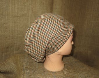 Winston Check Plaid  Euro Style Surgical Scrub Hat