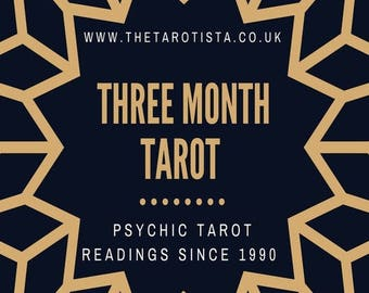Three Month Detailed Psychic Tarot Reading by Email with Photos, by Psychic Reader of 30 years experience