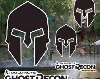Tom Clancy's Ghost Recon Wildlands Spartan & Logo Stickers Decals for Cell Phone Tablet Laptop Console Vehicle Car Officially Licensed