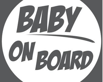 Baby On Board Decal - Circle Zap
