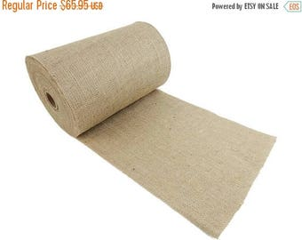 """ON SALE 14"""" Wide 100 Yards 100% Natural Jute Upholstery Burlap Roll - FREE Ship"""