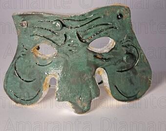 Màskes-masker Pulcinella enamel Verderame and oxidized agent
