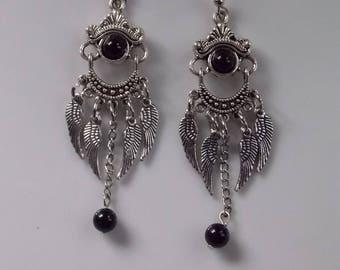 earrings.. .the agate wings