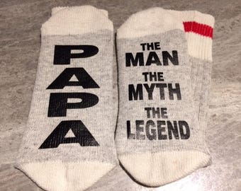 Papa ... The Man The Myth The Legend (Socks)