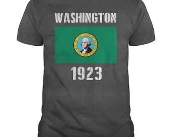Washington State Flag T-shirt,washington flag,washington state t-shirt,washington gift t-shirt,washington state flag tee,washington