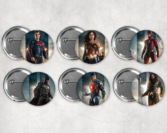 1.25in Justice League Buttons