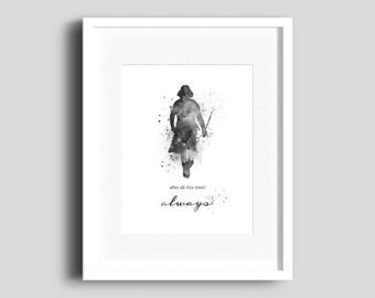 Snape, Harry Potter, Always, Print, Poster, Film art, Art, Fan art