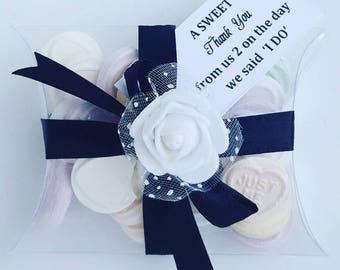 Wedding love heart candy sweet favours in pilow box