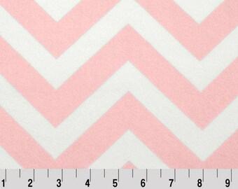 Pink Chevron Minky Fabric, Shannon Minky Fabric, Shannon Cuddle Minky, Chevron Minky Fabric, Shannon Chevron Minky, Minky by Yard