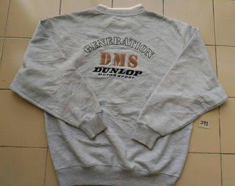 Vintage DUNLOP MOTORSPORT/ Embroidered Logo Sweatshirt