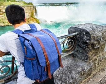 Camera Backpack, Camera Bag, Waxed Backpack
