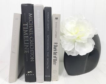 Gray and Black Decorative Book Set