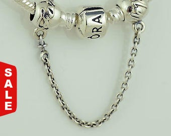 Authentic Pandora Charms Family Ties Bracelet Safety Chain