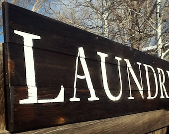 Rustic Laundry Sign Large Laundry Signs  Etsy