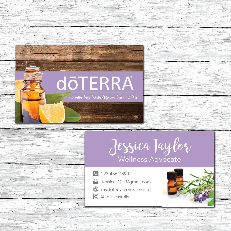 essential oils business card doterra business card