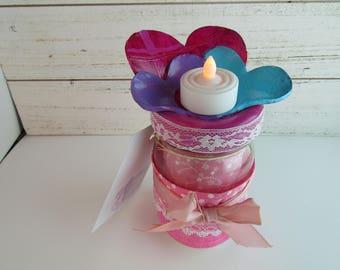 Sweethearts- Jar Candle holder