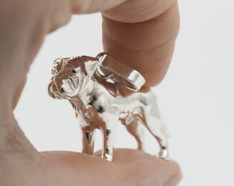 Vakkancs Dogue de Bordeaux pendant (solid sterling silver, 3D)