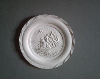 white patina decorative plate