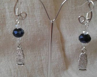 "Earrings ""Silver Russian Doll"""