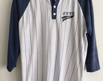 Vintage 1970's - Binghamton SUNY University of New York - Baseball Raglan T-Shirt - Men's Small