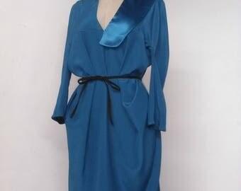 Adjustable teal dress. One of a kind