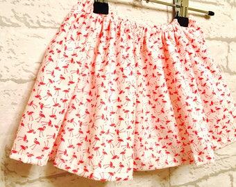 Girls Skirt, Girls Flamingo Skirt, Toddler Skirt, Flamingo clothing, baby girl flamingo skirt, baby girls skirt, girls clothing
