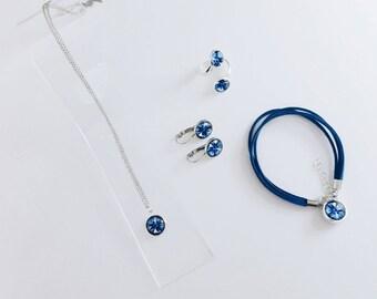 """Jewelry set """"Cornflower of Nesvizh"""""""