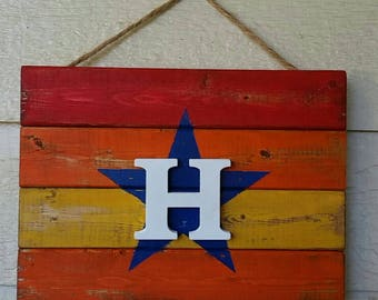 Astros wood sign