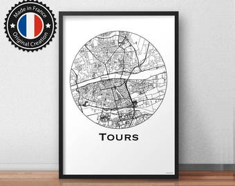 affiche chicago etats unis minimalist map city map poster. Black Bedroom Furniture Sets. Home Design Ideas