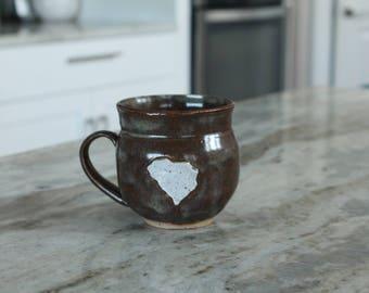 South Carolina Mug, SC Mug, Handmade Ceramic Mug, Pottery Cup, Handmade Mug, Handmade Coffee cup, Coffee Mug, Pottery Mug