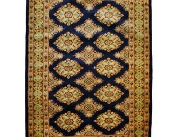 Bukhara Hand Knotted Wool Rug