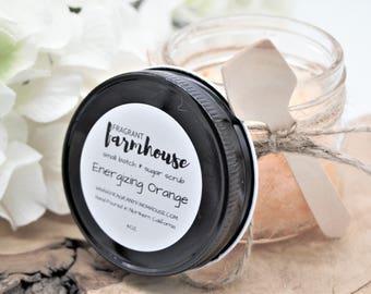 Energizing Orange - Sugar Scrub - Mason Jar Sugar Scrub - Farmhouse - Farmhouse Style - Bath Scrub - Body Scrub - Spring Scrub - Skin Care