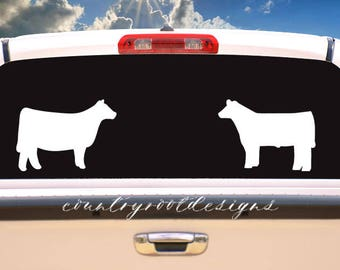 Show Heifer Decal, Show Steer Decal, Stock Show Life, Tumbler Decal, Car Decal, FFA, Farmer, 4-H, Laptop Decal, Heifer, Steer, Cow, Decal