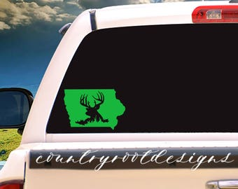Any State Buck Vinyl Decal, Tumbler Decal, Iowa Decal, Buck Decal, Buck, Deer Decal, Deer Hunting, Hunting, Hunting Decal, Hunter