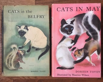 Cats in the Belfry & Cats in May by Doreen Tovey; A cat lover's book bundle