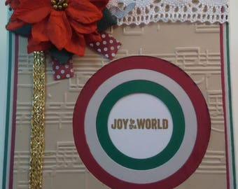 Joy to the World Card, Handmade Joy to the World Card, Christmas Card, Handmade Christmas Card, Handmade Card