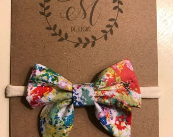 Splatter Paint Bow