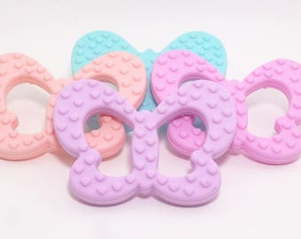 Front/back Butterfly silicone teething ring