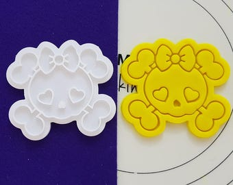Cute Skull Cookie Cutter and Stamp