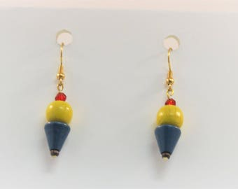 Ice Cream Cone Dangle Earrings (Vanilla or Chocolate)