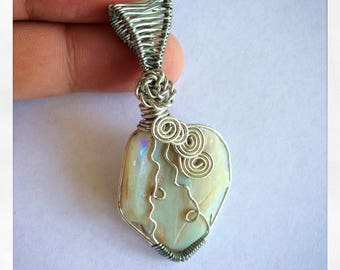 Opal Wire-wrapped Pendant