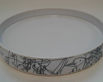 Ceramic plate by Gosia Wlodarczak in collaboration with Maria Lieberman