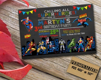 Superhero Invitation / Superhero Birthday / Superhero Birthday Invitation / Superhero Party / Superhero Invite / Superhero Party Invitation